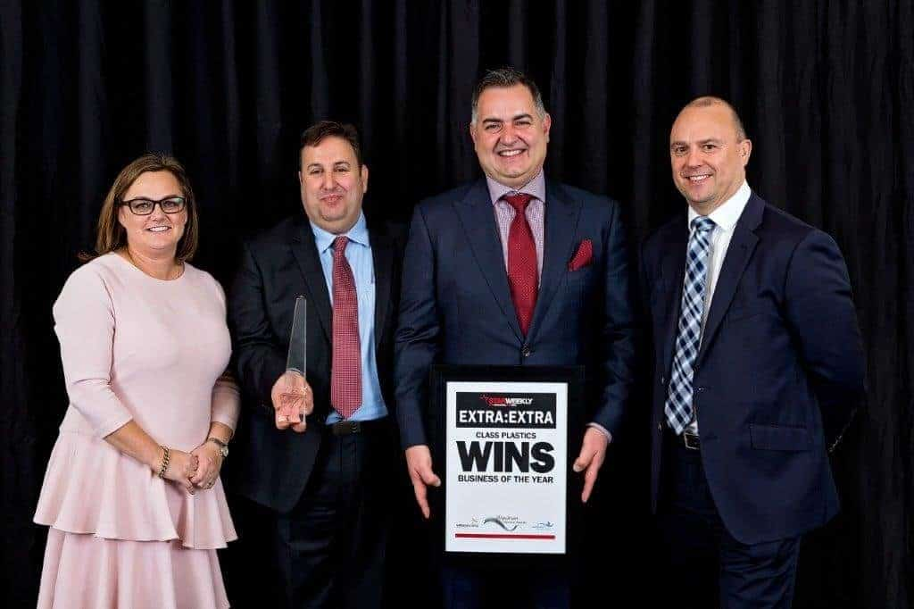 Business of the Year winner- Class Plastics with category sponsor Willia...